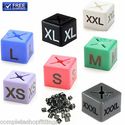 Brand New Garment Clothes Marker Size Cubes Pack Of 50 Each Size Xs,S,M,L,Xl,Xxl