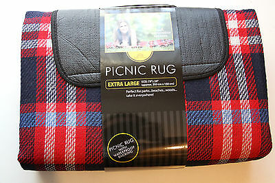 EXTRA LARGE - PICNIC BLANKET - WATERPROOF BACKING 200cm x 150cm - Festival  XL