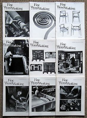 Fine Woodworking Magazine Lot of Nine Issues #19 - #27 1979 1980 1981