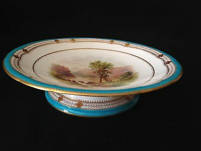 MINTON handpainted and gilt Comport, dated 1861 in mint condition