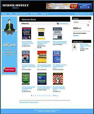 Google Adsense Products Automated Affiliate Store Business Website For Sale