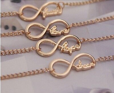 Fashion Jewellery Infinity Word Anklet Ankle Chain Ankle Bracelet - UK SELLER