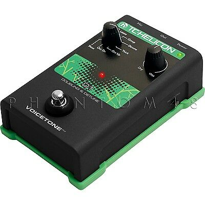 TC-Helicon VoiceTone D1 Vocal Doubler & Detune Live Doubling Effects Pedal - NEW