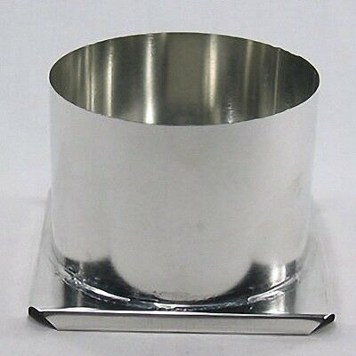 "Round Pillar Metal Candle Mold (6"" x 4-1/2"") 3-wick holes"