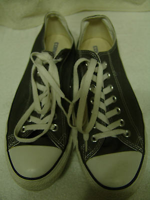 Converse All Star Mens 9 Gray Canvas Shoes Worn Once Great Condition