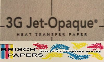 """Inkjet Transfer Paper For Dark Fabric: Neenah """"3G Jet Opaque"""" (A4 Size) 50 Ct"""