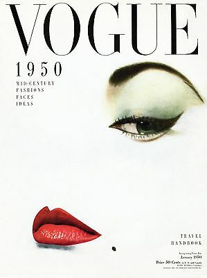 VOGUE 1950 Poster Fashion Style Classy Girl Face Bedroom Wall Art decoration hot