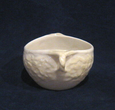 Belleek Open Sugar Bowl with Floral Pattern and Green Mark
