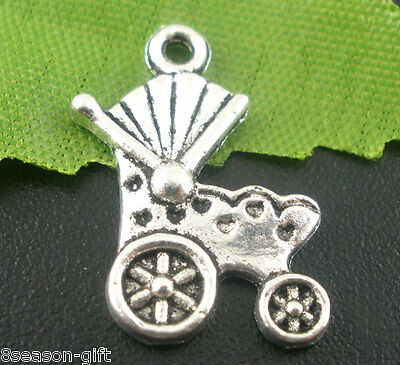 50PCs Gift Baby Carriage&Buggy Charms Pendants