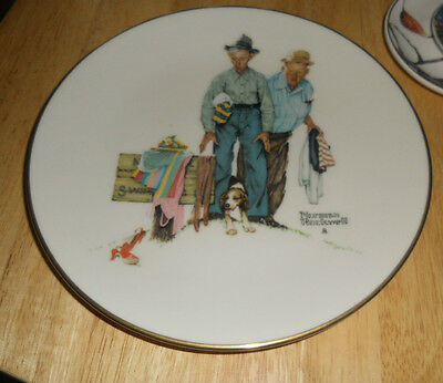Norman Rockwell Spring- Sweet Surprise Plate