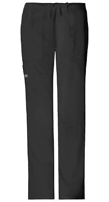 Cherokee Workwear Scrubs Drawstring Cargo Scrub Pant 4044 BLACK Core Stretch