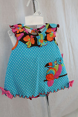 NEW Infant Girl 2 pc Toucan Swing Top with Diaper Cover by Molly & Millie