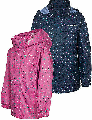 Trespass Totam Girls Waterproof Packaway Jacket Kids Coat Breathable