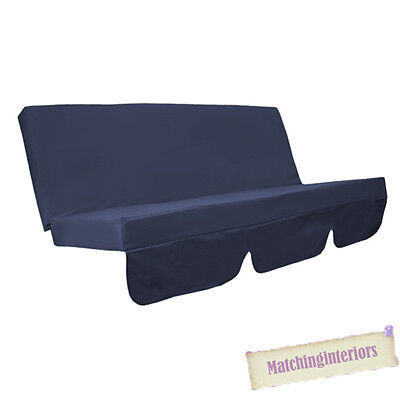 Navy Blue Water Resistant Bench Cushion for Swing Hammock Garden Seat Pad