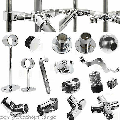 25mm NEW CLOTHES GARMENT RAIL WALK IN WARDROBE CHROME TUBING HANGING RAIL SYSTEM
