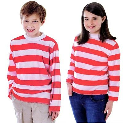 Childs Red/White Striped Top