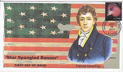Jvc Cachets - 2014 Star Spangled Banner First Day Covers Fdc Patriotic Flag #2