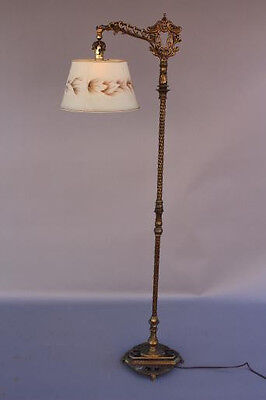 1920s Bridge Floor Lamp Light Spanish Revival Italian Tudor Home Antique (6124)
