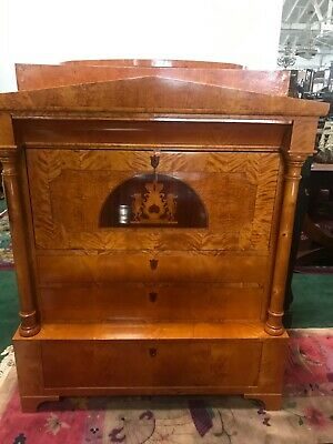 Rare Biedermeier Style Antique Secretary Desk #6276