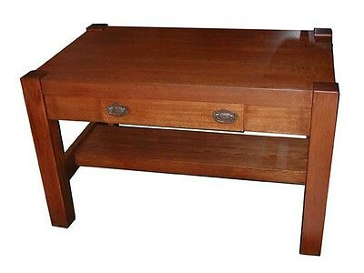 Antique Oak Mission Table with Center Drawer c. 1910 #4847