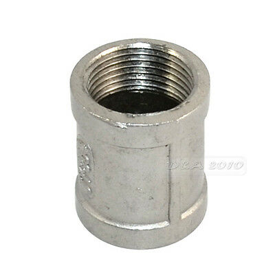"""3/4"""" Female x 3/4"""" Female Couple Stainless Steel 304 Threaded Pipe Fitting BSPT"""