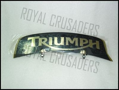 NEW TRIUMPH BRASS FRONT MUDGUARD NUMBER PLATE (code845)