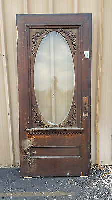 Oval Entrance door Oak decorated painted one side  (TD 3)
