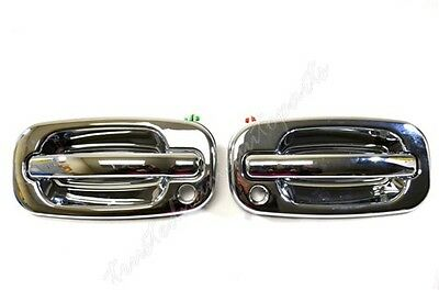 for Chevy GMC Outside Outer Exterior Door Handle Front Driver Passenger Chrome A