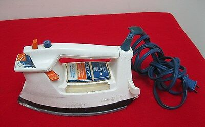 Vintage 1970's GE General Electric Spray Steam Dry Iron Model s2 f310wh Used ✞