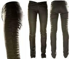 "Ladies Draggin Jeans ""slix"" Stretch Kevlar Denim Motorcycle Riding Road Black"