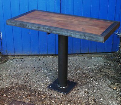 Vintage Industrial Rustic Pedestal Table- pubs restaurants cafe