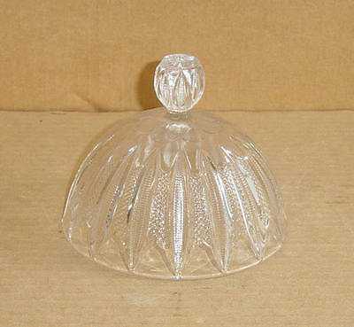 EAPG CRYSTAL  MARDI GRAS #42 BUTTER DISH LID GEORGE DUNCAN & CO 1898