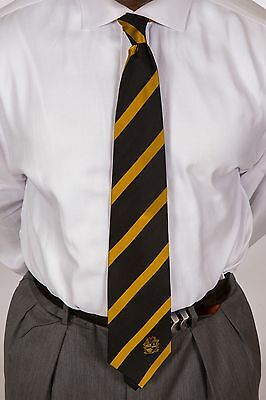 Alpha Phi Alpha 100% silk Black and Old Gold Tie