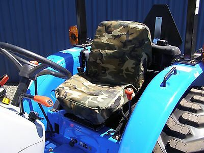Tractor Seat Cover Small, Forklift Seat Cover Small, Camo, Military Grade