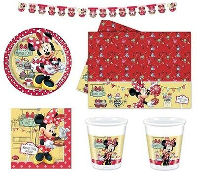 Kit N13 Compleanno Bambina Minnie Cafe' Addobbi Party Disney Coordinato Tavola