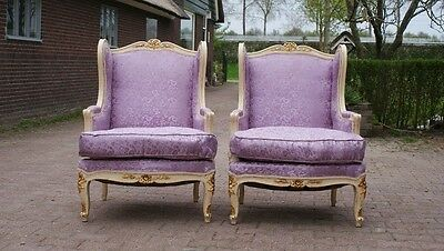 PAIR OF ANTIQUE (1900) FRENCH LOUIS XVI CHAIRS -