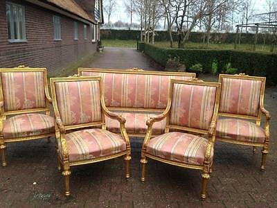 ANTIQUE COMPLETE LIVING ROOM SET - FRENCH LOUIS XVI -