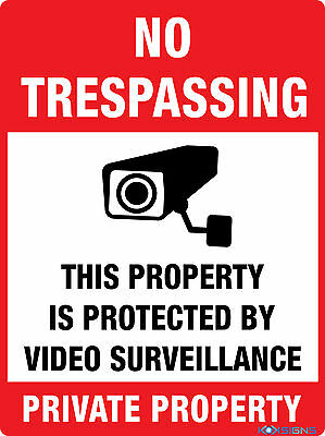 No Trespassing Private Property  --  300Mm X 225Mm  --  Colorbond / Metal  Sign