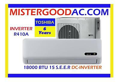 18000 BTU Ductless Mini Split Air Conditioner  / HEAT PUMP 15SEER COMP: TOSHIBA