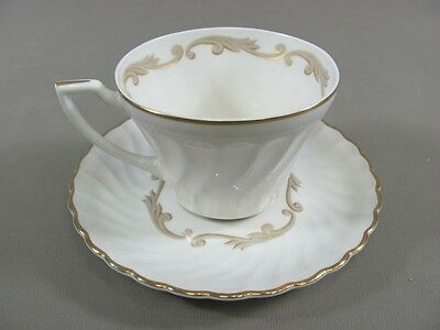 Syracuse China BAROQUE-GRAY Cup & Saucer Set