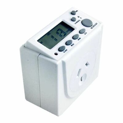 Digital Electrical Powerpoint Power Point 7 Day Timer Battery Back-up 240V 10A