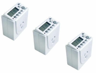 3x Digital Timer Switch 7 Days Automation Electric Programmable for Powerpoint