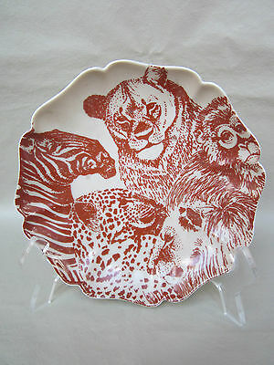 """""""Fitz and Floyd, Inc"""" 6.5"""" Round Dish Wild Animal Motif GREAT L@@KING Check OUT"""