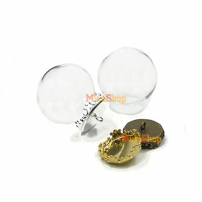 Round Glass Pendant Wishing Bottle Creative DIY Jewelry Accessories Empty Bottle