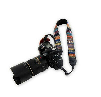 NEW Vintage Camera Soft Shoulder Neck Strap For Nikon Canon Sony Panasonic