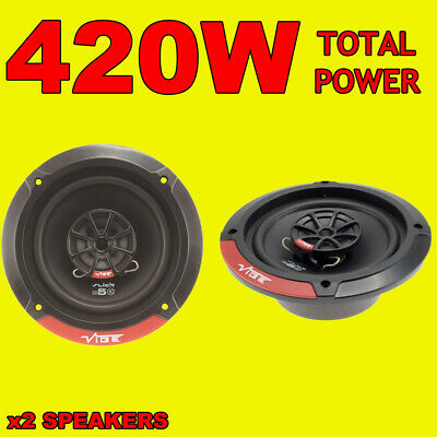 VIBE 420W TOTAL 2WAY 5.25 INCH 13cm CAR DOOR/SHELF COAXIAL SPEAKERS SLICK PAIR
