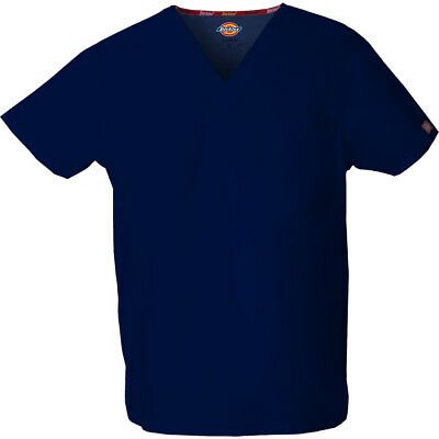 Dickies Scrubs 83706 V Neck Unisex Scrub Top Dickies EDS Navy