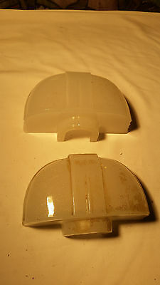pair deco bathroom shades  (LT 536)