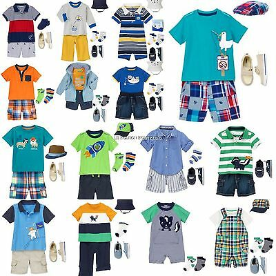 NWT GYMBOREE 12-18-24 m Baby Boy Outfits Sets 7pc LOTS Spring Summer U-PICK SIZE
