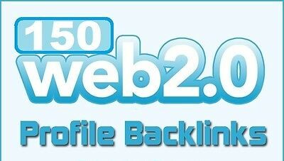 Over 150 WEB 2,0 Profile Backlinks on High Page Rank Sites for your website !SEO